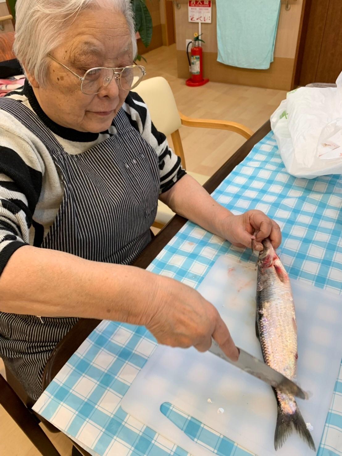生活機能向上訓練_魚を捌く